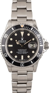 Vintage 1982 Rolex Submariner 16800 Black Dial