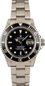 Used 40MM Rolex Submariner 16800 Feet First Dial