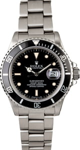Rolex Submariner 168000 Steel Oyster Band