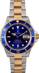 Rolex Submariner 16803 Blue Dial Two-Tone