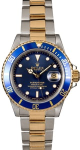 Rolex Submariner 16803 Blue Dial Men's Watch