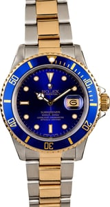 Men's Rolex Submariner 16803 Blue Dial
