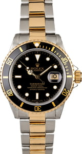 Men's Rolex Submariner 16803 Black Dial