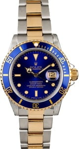 Rolex Submariner 16803 Blue Luminescent Dial