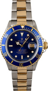 PreOwned Rolex Submariner 16803 Blue Dial