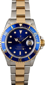 Rolex Submariner 16803 Blue Dial Two Tone Oyster