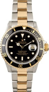Pre-Owned Rolex Submariner 16803 Black Dial