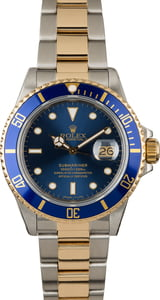 Rolex Submariner 16803 Diver's Watch Blue Dial