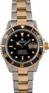 Used Rolex Black Dial 16803 Submariner Two Tone