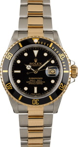 PreOwned Rolex Submariner 16803 Black Luminous Dial