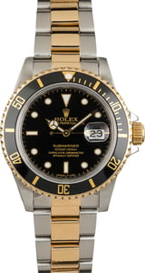 Used Rolex Submariner 16803 Black Luminous Dial