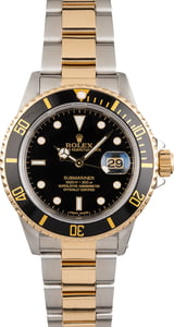 Rolex Submariner 16803 Two Tone Black Dial