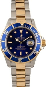 Pre Owned Rolex Submariner 16803 Sunburst Blue