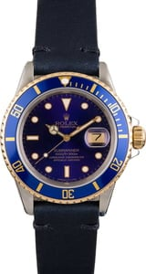 Pre Owned Rolex Submariner 16803 Leather Strap