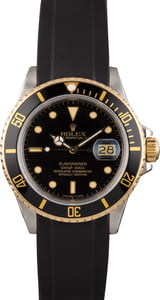 Pre Owned Rolex Submariner 16803 Rubber Bracelet