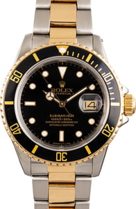 Pre Owned Rolex Submariner 16803 Two Tone Oyster