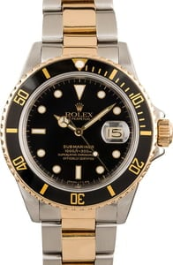 Certified Rolex Submariner 16803 Two-Tone Oyster