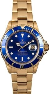 Men's Rolex Submariner 16808 Blue Dial