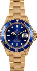 Men's Rolex Submariner 16808 Blue