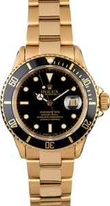 Rolex Submariner 16808 Yellow Gold