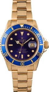 Used Rolex Submariner 16808 Blue Dial
