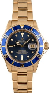 Pre Owned Rolex Submariner 16808 Blue Nipple Dial