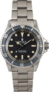Vintage 1970 Rolex Submariner 5513 Feet First Dial
