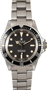 Vintage Rolex Submariner 5513 Black Insert