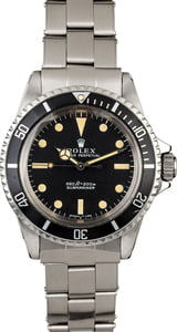 Vintage 1970 Rolex Submariner 5513 Feet First