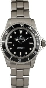 Vintage 1964 Rolex Submariner 5513 Glossy 'SWISS' Only Service Dial