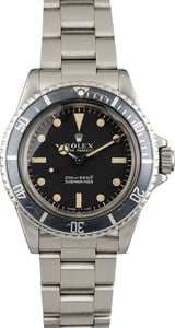 Vintage 1967 Rolex Submariner 5513 Black Meters First Dial