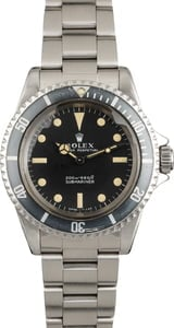 Vintage 1967 Rolex Submariner 5513 Matte Black Meters First Dial