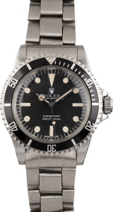 Vintage Rolex Submariner 5513 Black Maxi Dial 40MM