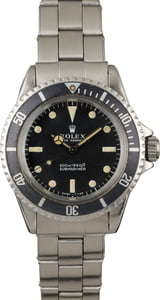 Vintage 1967 Rolex Submariner 5513 Faded Long 5 Insert