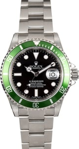 Rolex Submariner Anniversary Green 16610 Unworn