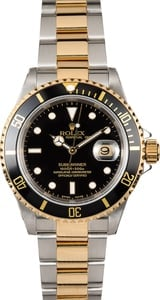 Rolex Submariner Black Two-Tone 16613 Oyster