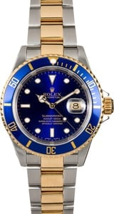 Rolex Submariner Blue 16613 No Holes Case