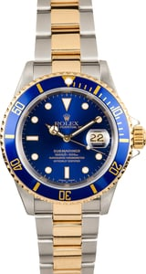 Submariner Rolex Blue Dial 16613 Two-Tone