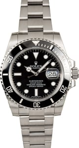 Mens Black Rolex Ceramic Submariner Date 116610