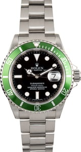 TT Rolex Submariner Green Anniversary Edition 16610