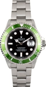 Rolex Submariner Green and Black Anniversary 16610V