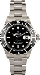 Rolex Submariner Black 16610 Serial Engraved