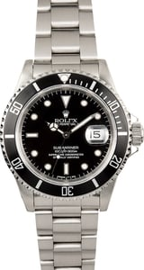 Rolex Submariner Stainess Steel 16610 Black