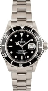 Rolex 16610BKSO Submariner Stainless Steel