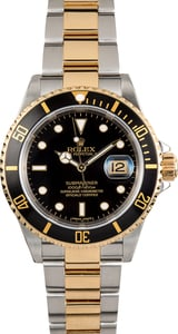 Rolex Submariner Steel & Gold Black 16613