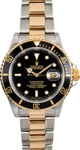 Used Rolex Submariner Two-Tone 16613