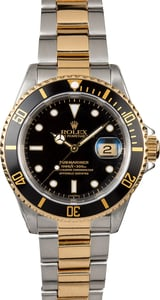 Rolex Submariner Two-Tone Black 16613 Watch