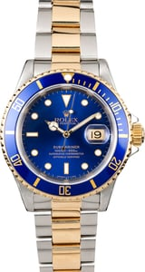 Rolex Submariner Two-Tone Blue Dial 16613