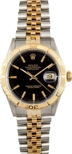 Rolex Thunderbird Datejust 16263 Black Dial