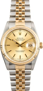 Rolex Two-Tone 36MM Datejust 16233 Jubilee